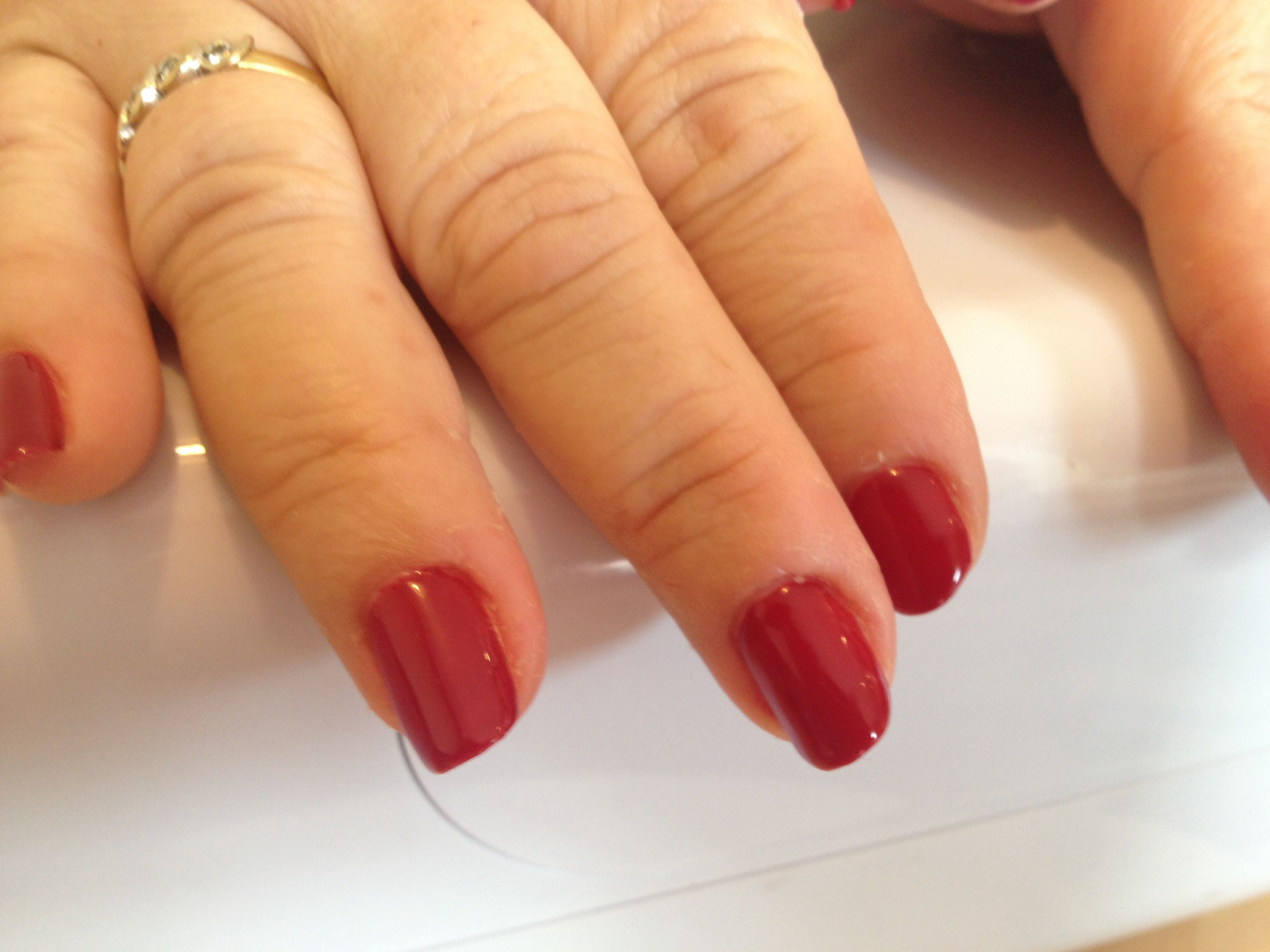 Lovely red shellac nails