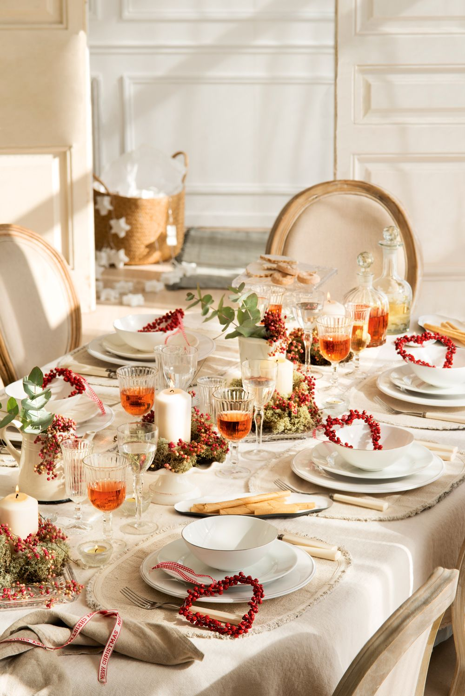 Mesas decoradas para celebrar la Navidad Adornamos nuestra casa