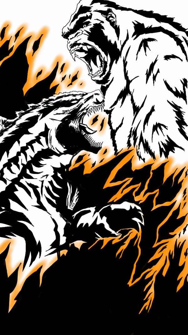 Godzilla Vs Kong Poster Designs King Kong Vs Godzilla Godzilla Wallpaper King Kong