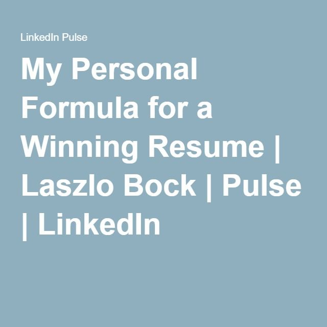 my personal resumes