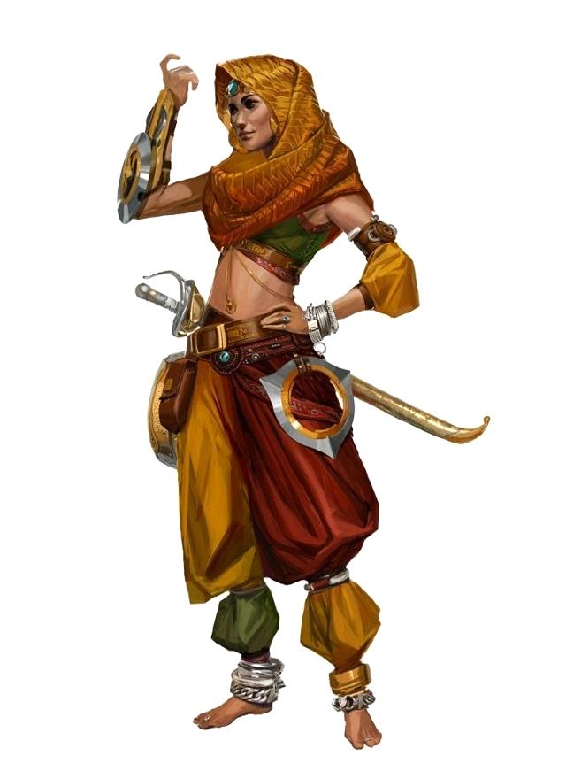 Female Human Desert Rogue - Pathfinder PFRPG DND D&D 3.5 ...