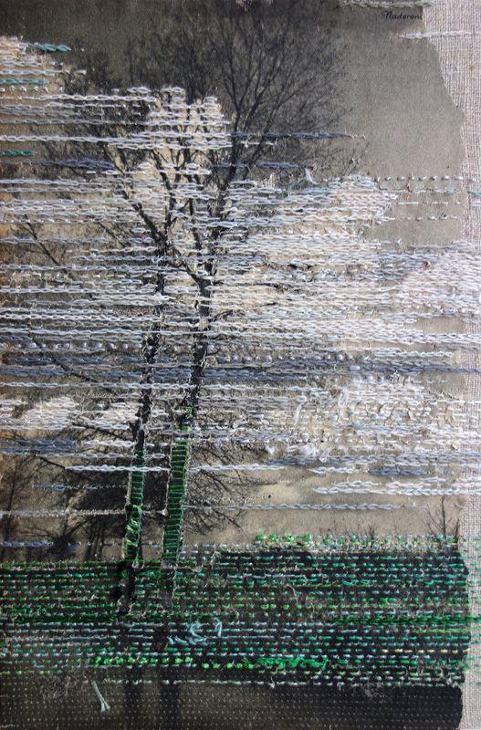 002 A stitch in time saves the mind…. fiber love Textile