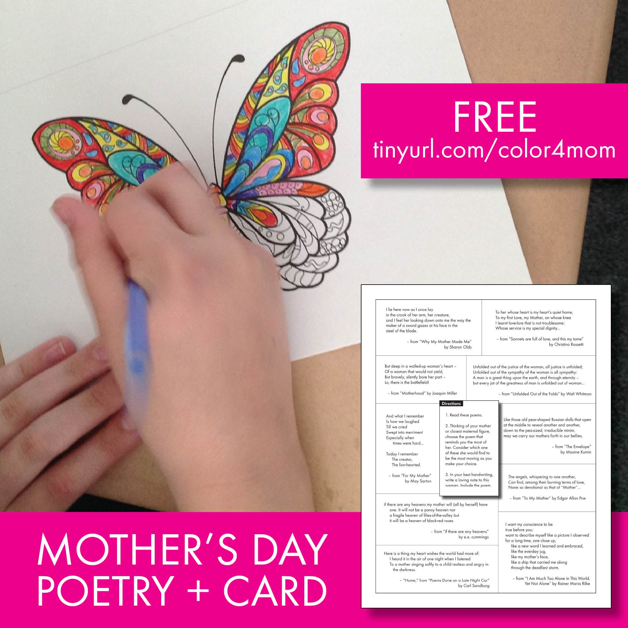 Free Poetry Lesson Mother S Day Card Poetry For Older Students