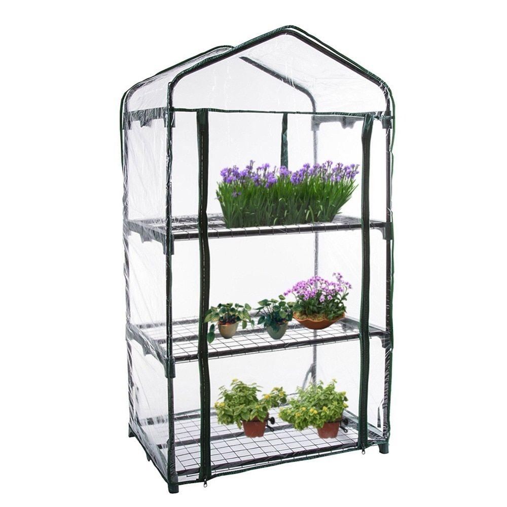 PVC Cover Plants green flower planting garden tier greenhouse garden supplies