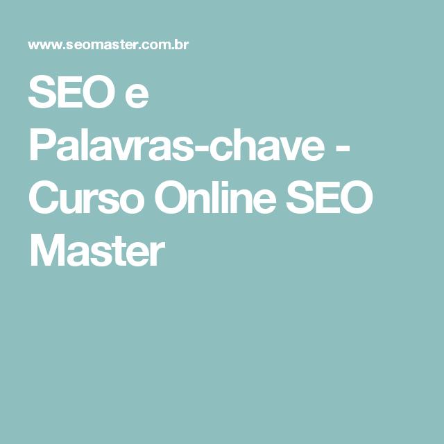 SEO e Palavras-chave - Curso Online SEO Master
