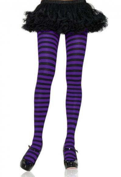 2ad754d547b Black and Purple Striped Tights PLUS SIZE
