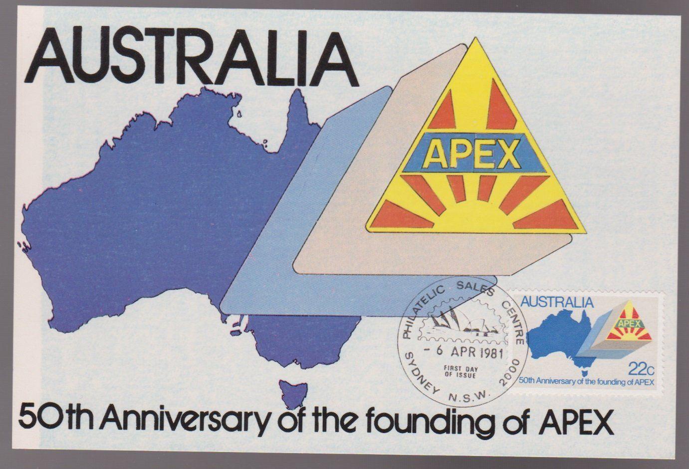 1981 Australia 50th Anniversary of APEX Australia Maxi