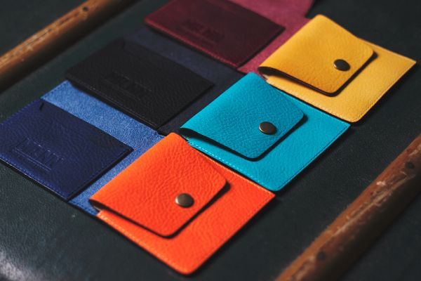 Mr. NN 2014 Spring/Summer Collection: brightly coloured leather wallets / coin purses
