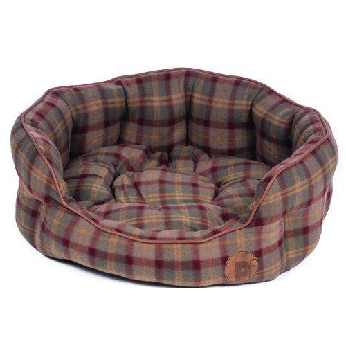 Archie Oscar Alfret Bolster Cushion In Brown Green In 2019 Bolster Cushions Dog Bed Raised Dog Beds
