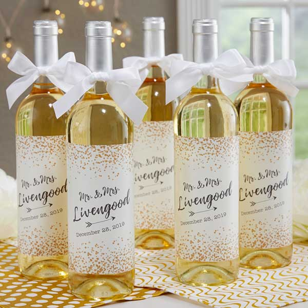Personalized Wine Labels For Wedding Sparkling Love 18887
