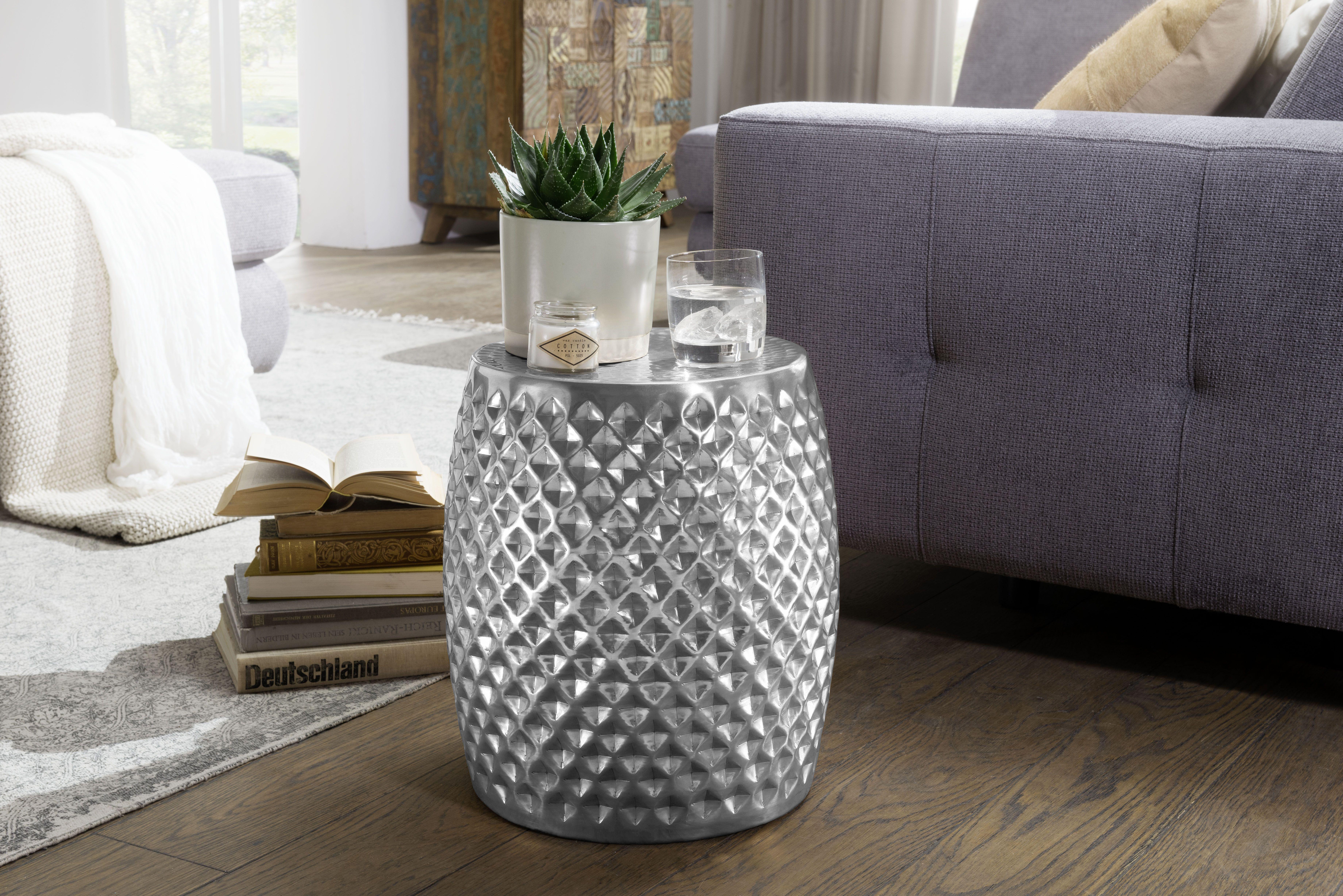 Wohnling Beistelltisch Sita Silber Wl5 448 Aus Aluminium Silber Metall Wohnidee Dekoration Ablage Wohnen Wohnzimmer Beistelltische Beistelltisch Tisch