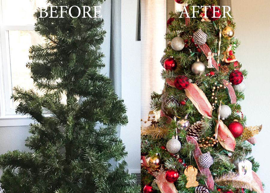 You Have To Check Out What This Christmas Tree Looked Like Before She Decorated It Wow A Genius Hack Fluff Up And Makeover Your Scraggly On