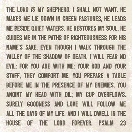 Framed Lord Is My Shepherd Print Lord Is My Shepherd Prayer Verses Prayer For Students