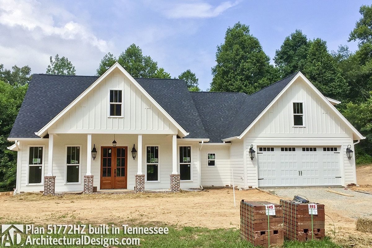 Plan 51772HZ: Exclusive Farmhouse With Bonus Room And Side
