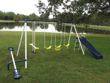 Amazon Com Flexible Flyer Swing Around Fun Swing Set Toys Games