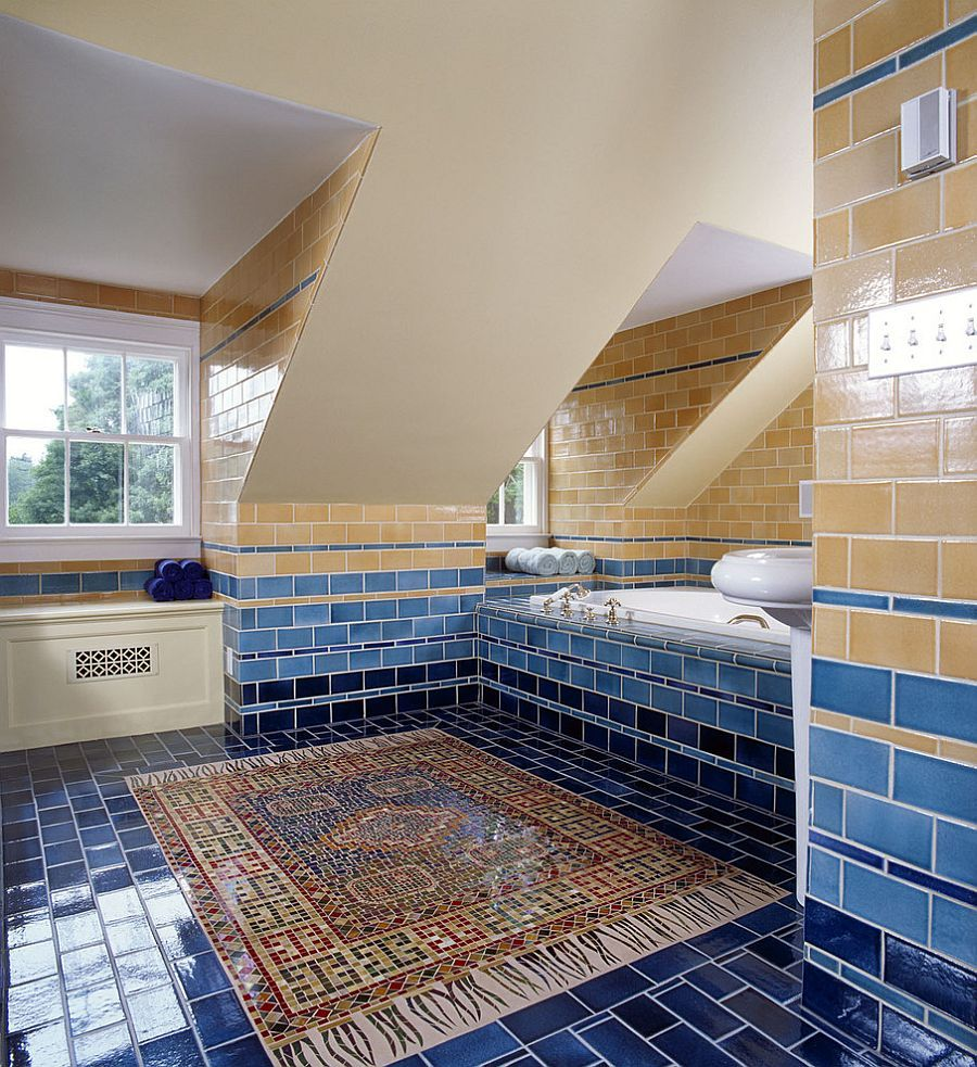 Photo of Trendy Twist to a Timeless Color Scheme: Bathrooms in Blue and Yellow