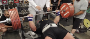Very Strong Man Sets World Record With 722 Pound Bench Press Man Set Bench Press World Records