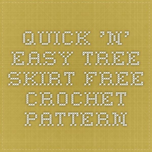 Quick \'n\' Easy Tree Skirt - free crochet pattern | Christmas ...