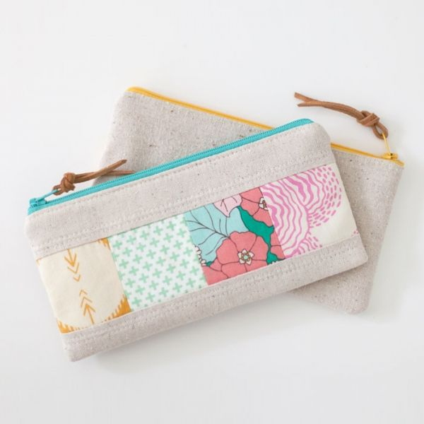 Download Patchwork Zipper Pouch Sewing Pattern Free Easy