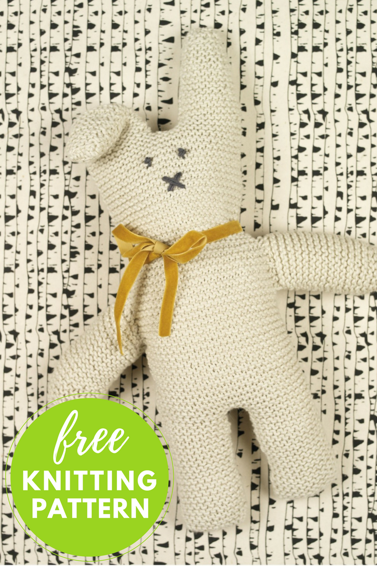 Cottontail Rabbit Free Knitting Pattern | Muñecos de punto, Animales ...