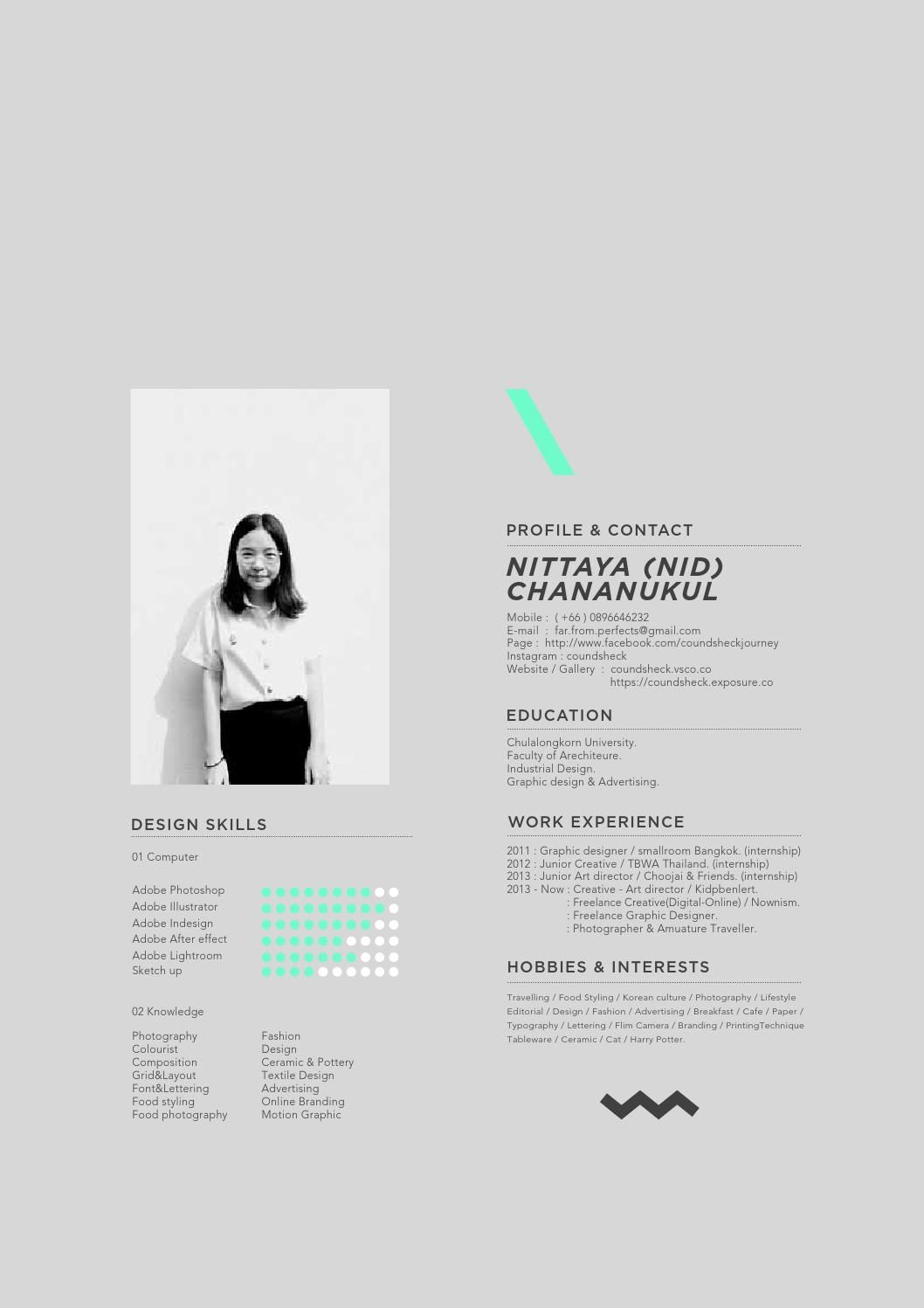Portfolio For Vanilla Graphic Design Resume Resume Design Creative Portfolio Design