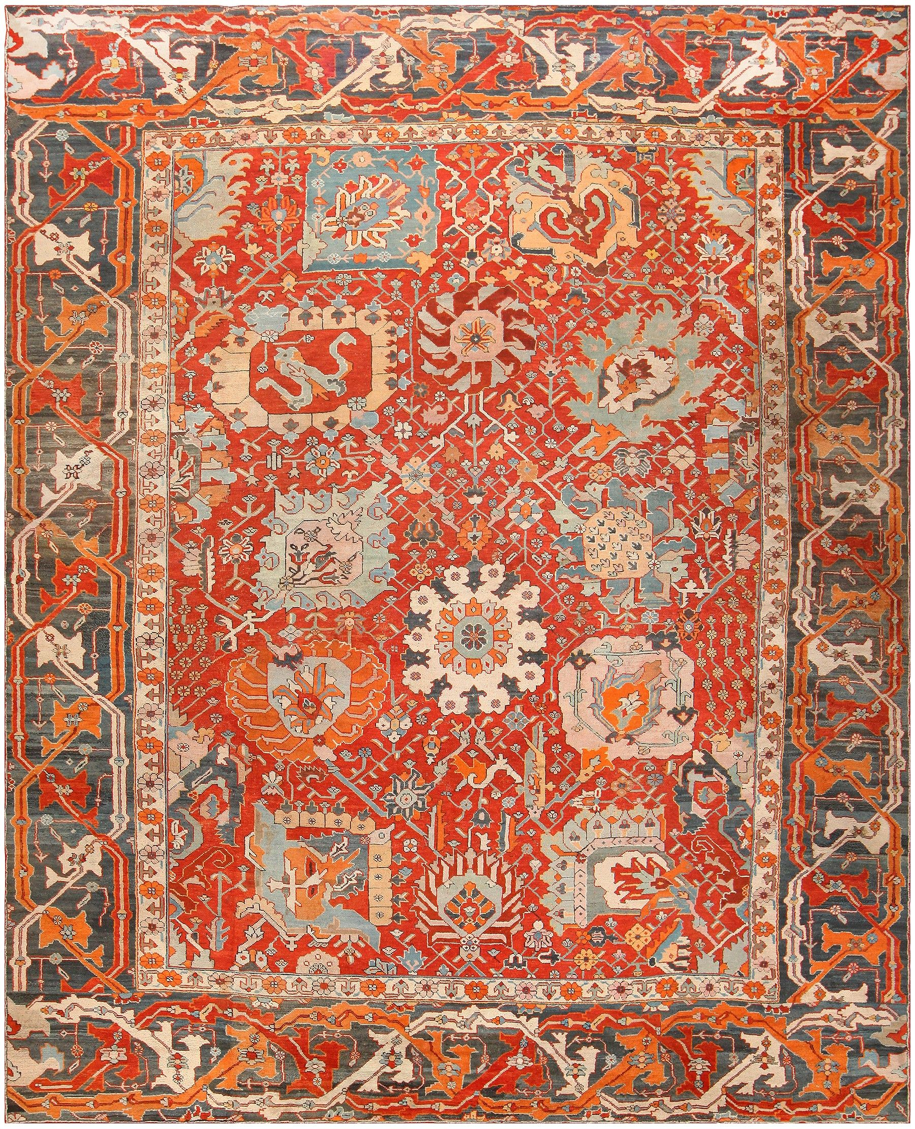 Large Oversize Antique Turkish Oushak Rug 48131 Antique