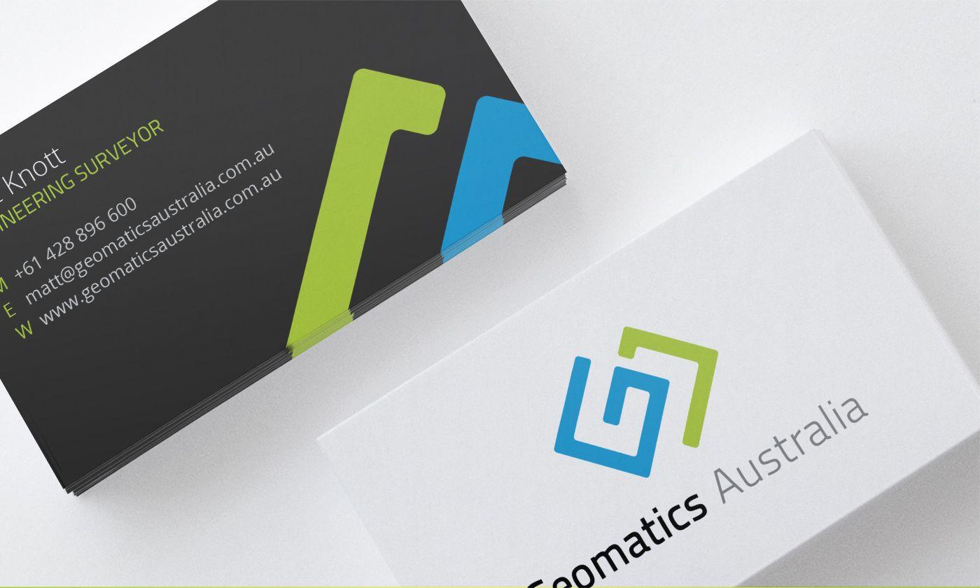 Geomatics Australia Business Cards | Graphic Design | Pinterest ...