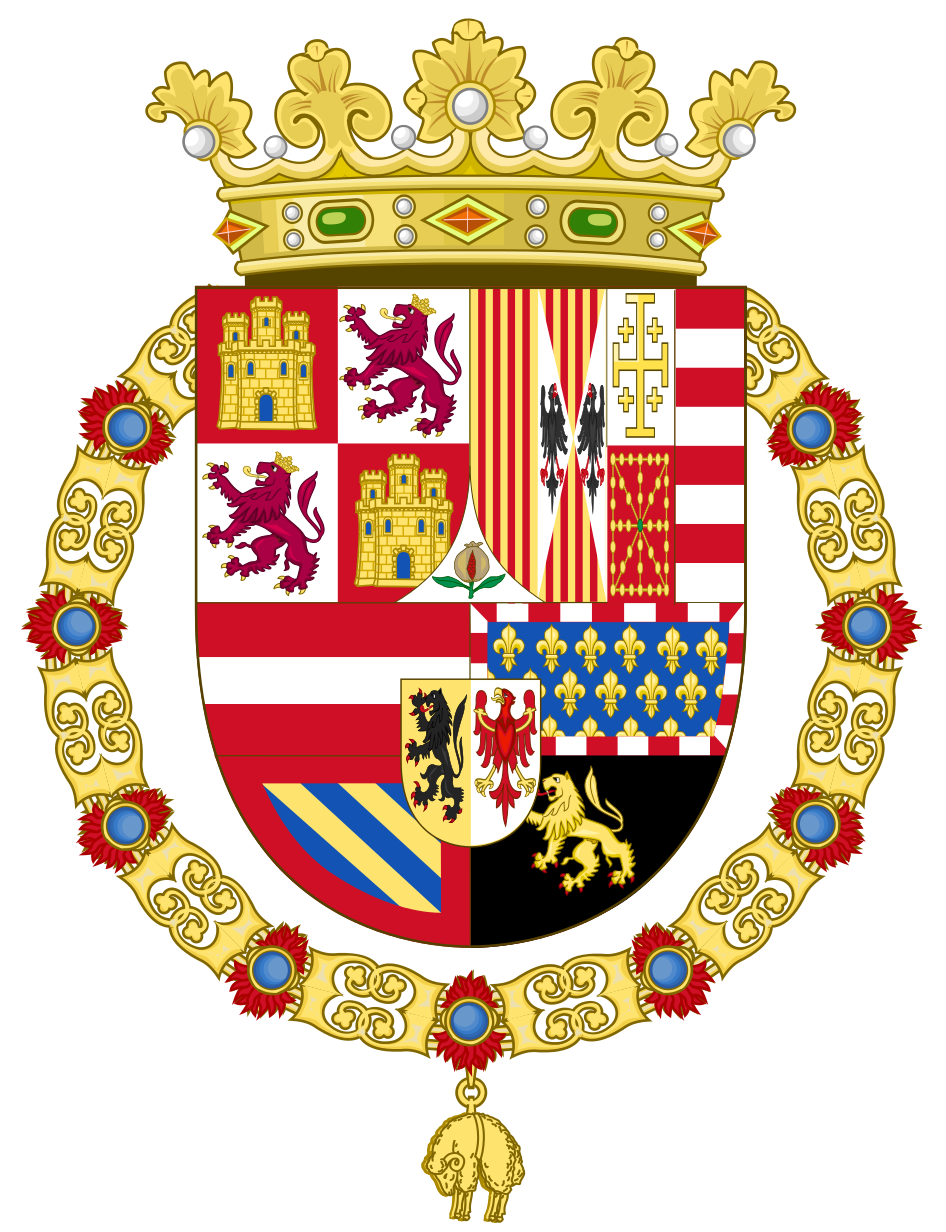 coat of arms of philip ii of spain 1558 1580 list of coats of