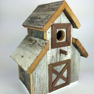 A barn made from 100 year old barn lumber barn for Wooden bird house plans