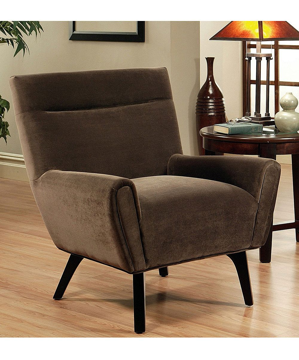 Dark Brown Jersey Microsuede Armchair - Love the shape, hate the color
