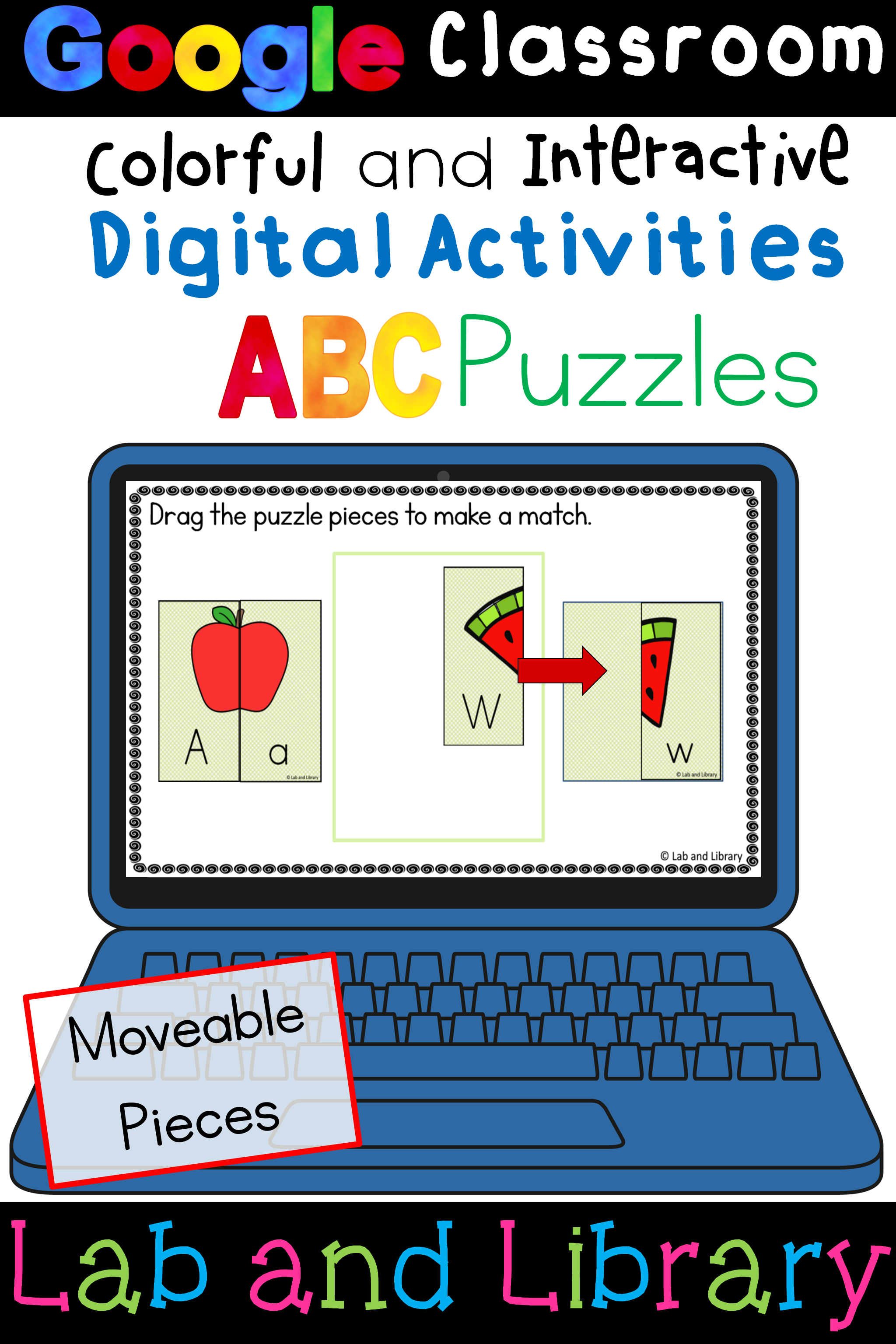 Abc Puzzles Digital Activities For Google Classroom Tpt Store