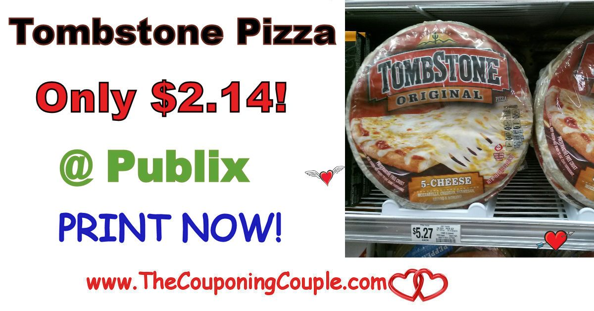 Tombstone Pizza Coupon Only 2 14 Publix Starting 1 11 Or 1 12