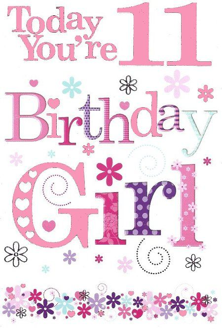 Happy birthday 11th Birthday ideas Pinterest – 11th Birthday Cards