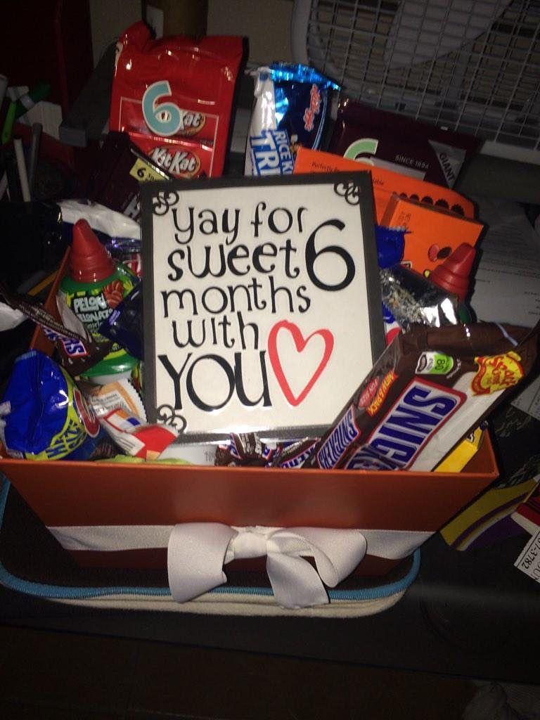 6 month anniversary gift … Boyfriend anniversary gifts