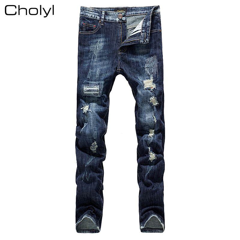 47767508ba9 2017 Apparel Boyfriend hole ripped choly jeans men pants Cool denim vintage  straight jeans for boy
