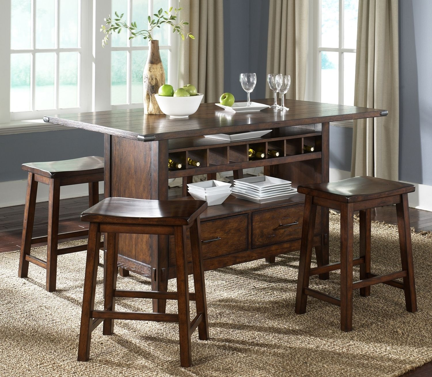 Laura casual dining collection leons furniture and small liberty furniture cabin fever formal center island dining table in bistro brown workwithnaturefo