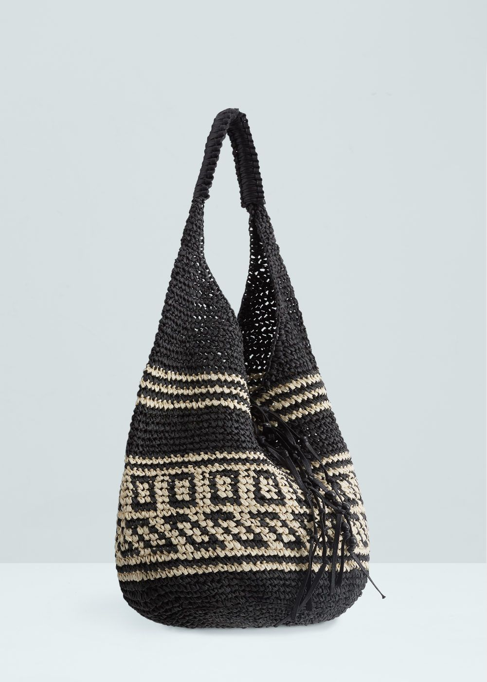 f5024c7e527 Bolso saco paja - Mujer