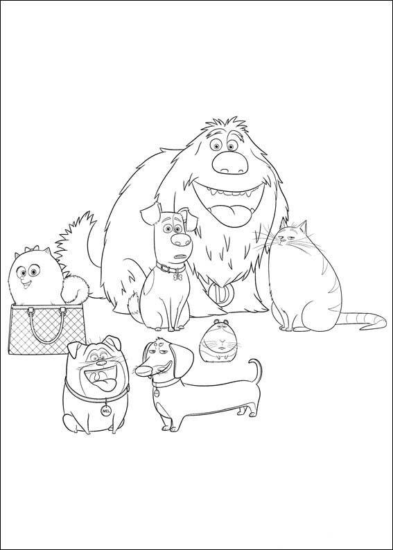 The Secret Life Of Pets Coloring Pages 19 Secret Life Of Pets Coloring Pages Coloring Pictures