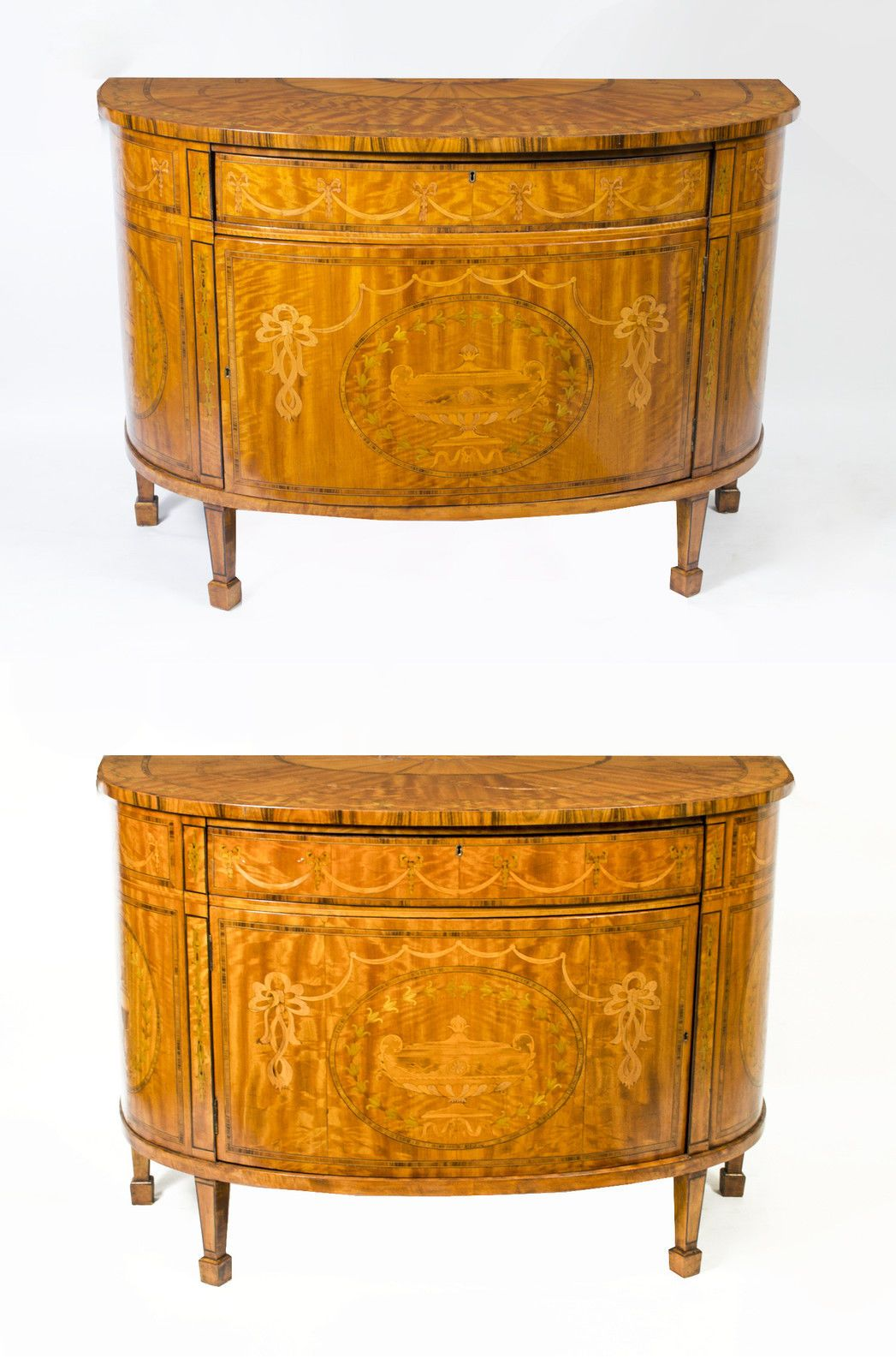 Pair Satinwood Demi Lune Cabinets Commodes Early 20th C In Antiques,  Antique Furniture, Chests Of Drawers, 20th Century   EBay