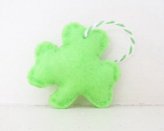 SHAMROCK - Light Green Shamrock ORNAMENT - Shamrock Ornament - Irish Baby Shower Favors - Irish Wedding Favor - Irish Party Favor Decoration