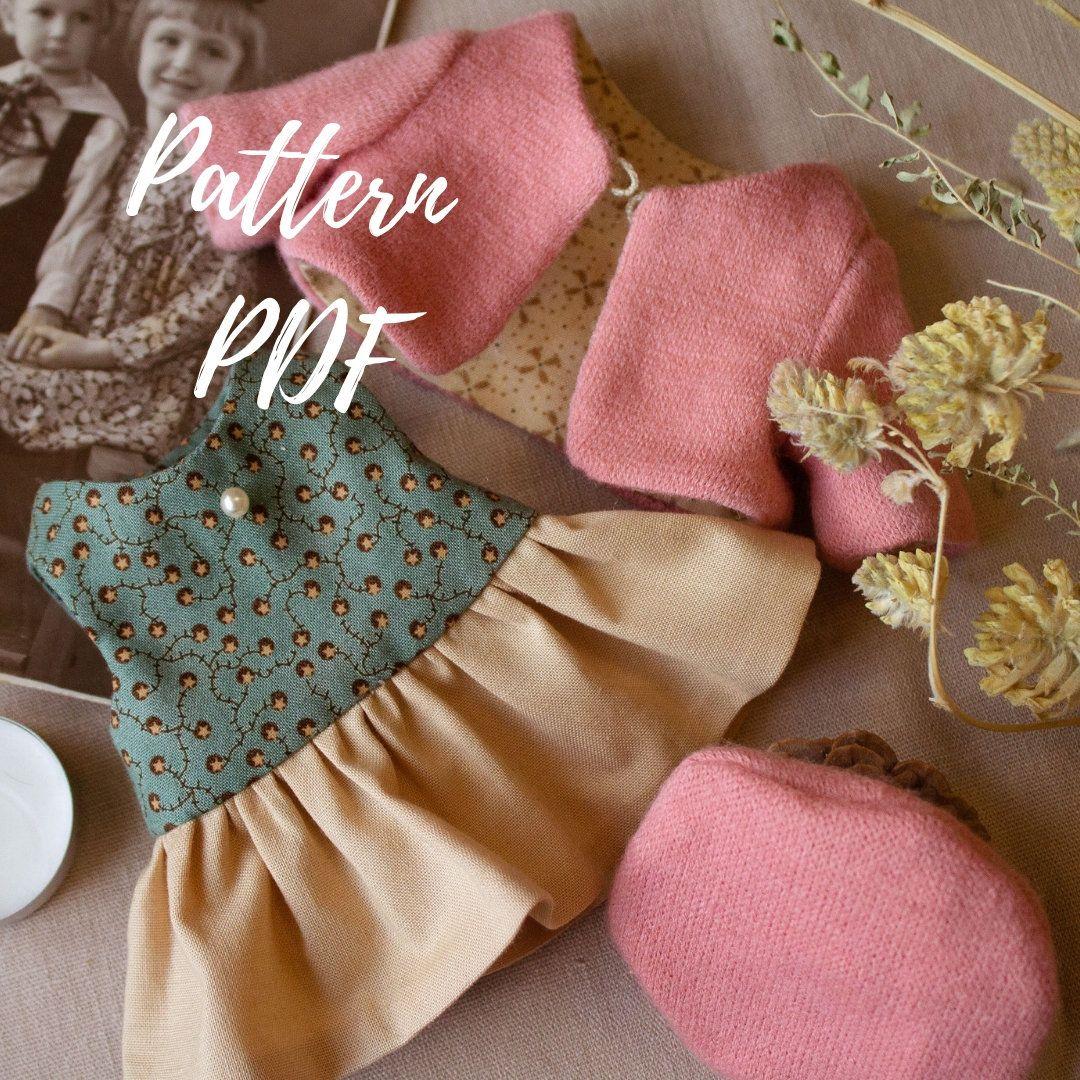 PDF artist teddy bear clothes pattern, collectible handmade bear, stuffed bear sewing pattern, soft stuffed toy patterns #teddybearpatterns