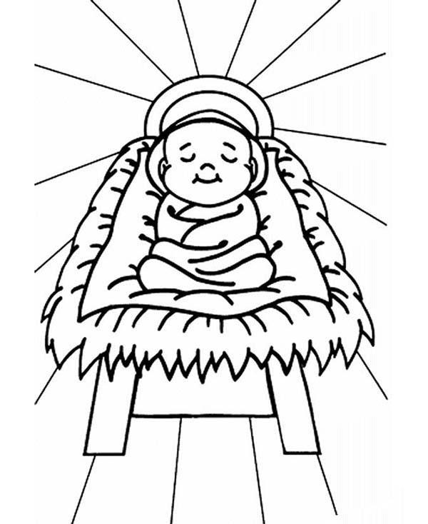 Pin Ot Polzovatelya Kidsplaycolor Na Doske Baby Jesus Coloring Pages