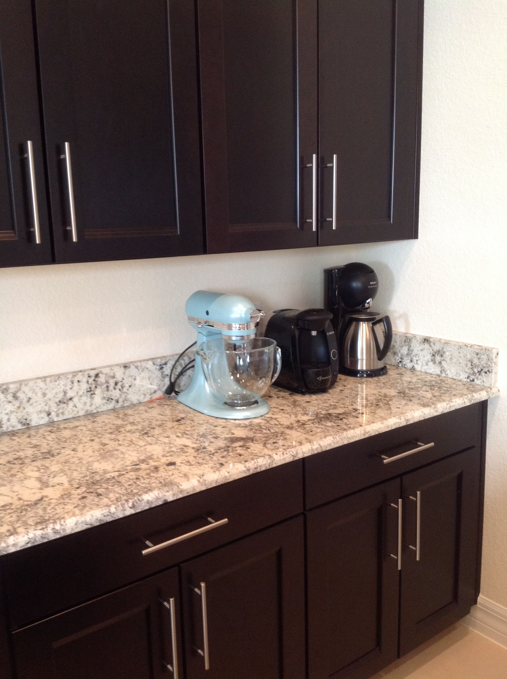 Dark espresso cabinets with granite countertop and 5 1 2 for 3 4 inch granite countertops