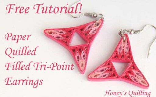 Tutorial – Paper Quilling Earrings in Filled Tri Point Design