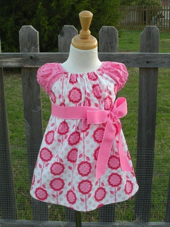 Peasant Dress PDF Patterns EBOOK Tutorial 6mo by Tinytotpatterns