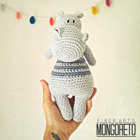 Patrón del Amigurumi de hipopótamo   HILOS   Pinterest   Castellanos ...