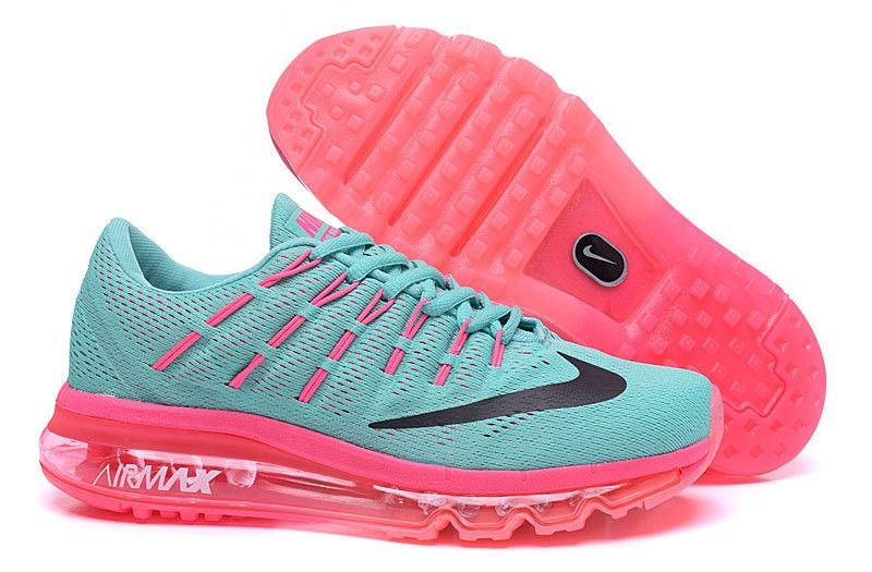best sneakers 2386f 3c79d ... shop nike air max 2016 womens 764892 063 running shoes pink green black  7f64a cc524