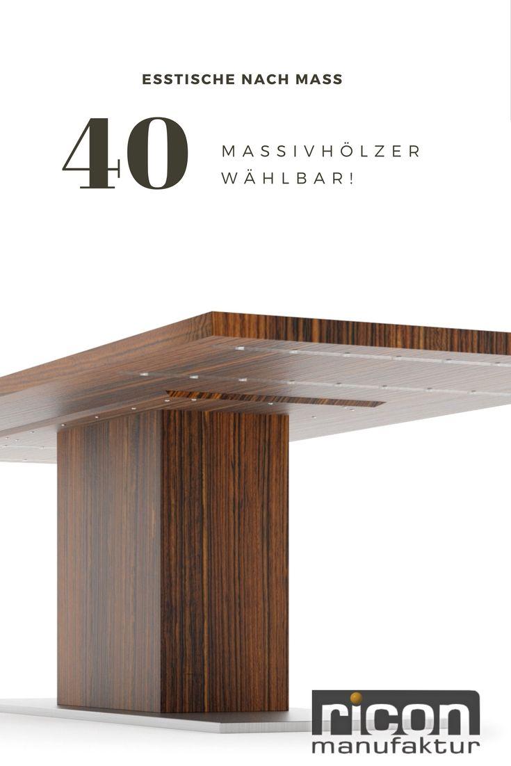 Konfigurieren Sie ihren Esstisch in Ihrem Massivholz und