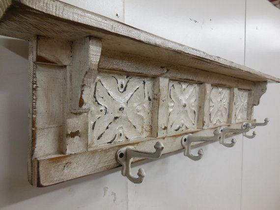 French Country Coat Rack Shabby Chic, French Country Coat Hooks