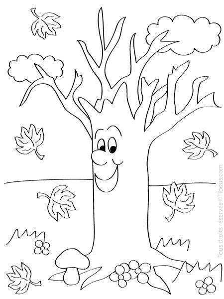 Alegre arbol sin hojas Más | Ausmalbilder | Pinterest | Hoja, Otoño ...
